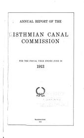 Annual report of the Isthmian Canal Commission for the year ending ...: Part 1