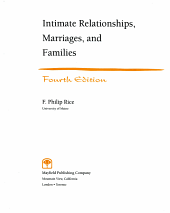 Intimate Relationships  Marriages  and Families PDF