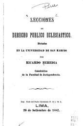 Lecciones de derecho publico eclesiastico