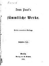 Jean Paul's Sämmtliche Werke: Titan / von Jean Paul, Band 16