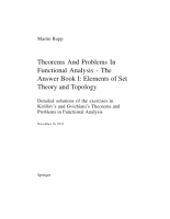 Theorems and Problems in Functional Analysis   The Answer Book Volume I  ELEMENTS OF SET THEORY AND TOPOLOGY PDF