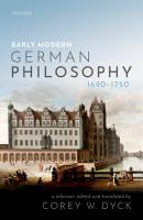 Early Modern German Philosophy  1690 1750  PDF