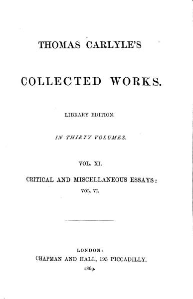 Download Thomas Carlyle s Collected Works Book