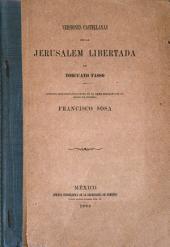 Versiones castellanas de la Jerusalem libertada de Torcuato Tasso: Estudio bibliográfico leido en el liceo Hidalgo