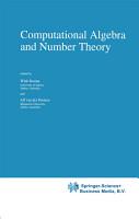 Computational Algebra and Number Theory PDF