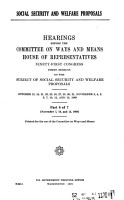 Social Security and Welfare Proposals PDF