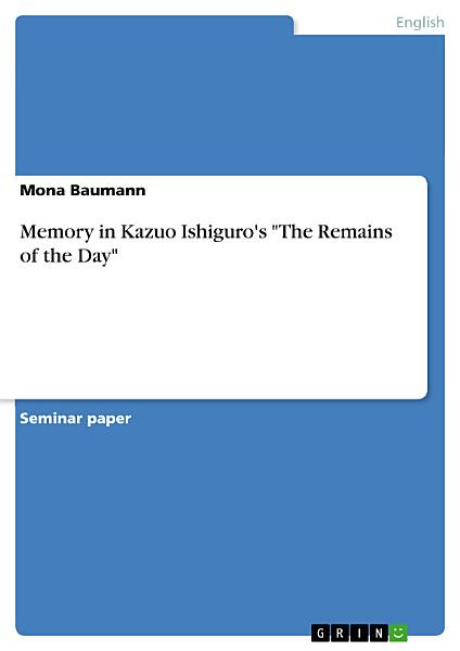 Download Memory in Kazuo Ishiguro s  The Remains of the Day  Book