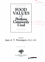 Bowes And Church S Food Values Of Portions Commonly Used Book PDF