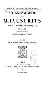 Catalogue général des manuscrits des bibliothèques publiques de France: Départements, Volume5