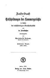 Jahrbuch für Entscheidungen des Kammergerichts in Sachen der nichtstreitigen Gerichtsbarkeit und in Strafsachen: Band 7