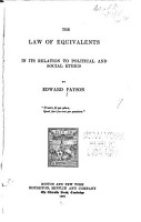 The Law of Equivalents in Its Relation to Political and Social Ethics PDF