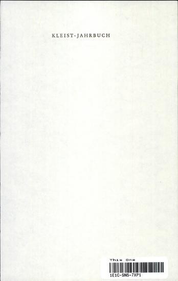 Kleist Jahrbuch 1988 89 PDF