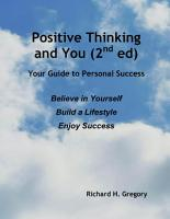 Positive Thinking and You  2nd Ed  PDF