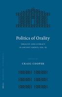 The Politics of Orality PDF