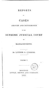Reports of Cases Argued and Determined in the Supreme Judicial Court of the Commonwealth of Massachusetts: Volume 59