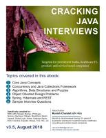 Cracking The Java Interviews  Java 8   3rd Edition PDF