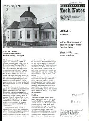 In kind Replacement of Historic Stamped Metal Exterior Siding
