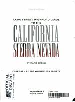 Longstreet Highroad Guide to the California Sierra Nevada