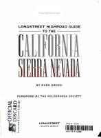 Longstreet Highroad Guide to the California Sierra Nevada PDF