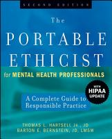 The Portable Ethicist for Mental Health Professionals PDF