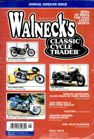 WALNECK S CLASSIC CYCLE TRADER  MAY 2002 PDF