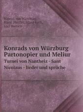 Konrads von W?rzburg Partonopier und Meliur