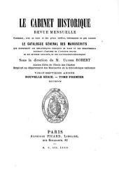 Le Cabinet historique: Volume27