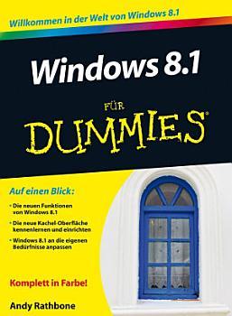 Windows 8 1 f  r Dummies PDF