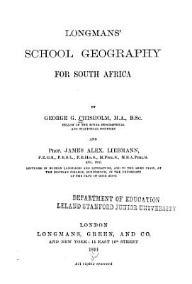 Longmans  School Geography for South Africa PDF