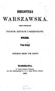 Biblioteka warszawska PDF