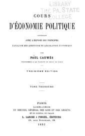 Cours d'économie politique: ptie. Économie publique et financière. t.4