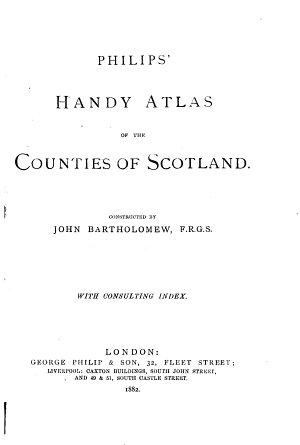 Philips  Handy Atlas of the Counties of Scotland