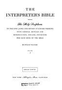 The Interpreter's Bible: General articles on the Bible. General articles on the Old Testament. Genesis. Exodus