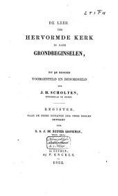De leer der Hervormde Kerk in hare grondbeginselen: Volume 2