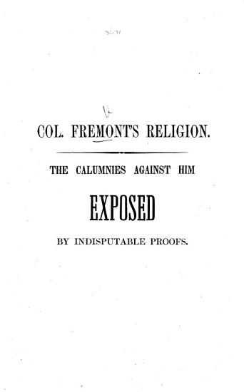 Col  Fremont s Religion PDF