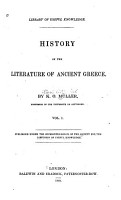 History of the Literature of Ancient Greece PDF