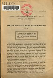 Service and Regulatory Announcements: Volume 56