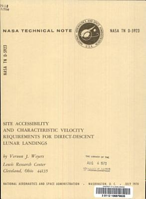 Site Accessibility and Characteristic Velocity Requirements for Direct descent Lunar Landings