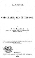 Handbook to the Calculator and Letter box PDF