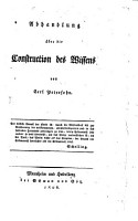 Abhandlung   ber die Construction des Wissens PDF