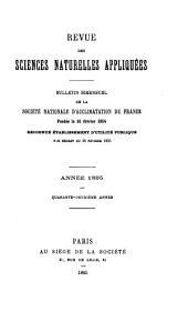 Revue des sciences naturelles appliquées: bulletin bimensuel de la Société nationale d'acclimatation de France, Volume42,Numéro1