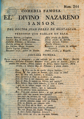 El divino nazareno Sansòn: Comedia famosa