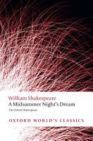 The Oxford Shakespeare  A Midsummer Night s Dream PDF