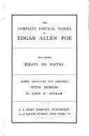 The Complete Poetical Works of Edgar Allen     Poe