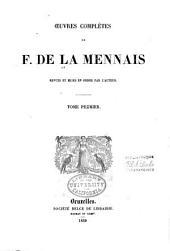 Oeuvres complètes de F. de la Mennais: Volume1