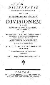 Systematica Salium divisio. Diss