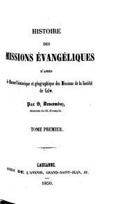 Histoire des missions évangéliques d'après le manuel historique et géographique des missions de la Société de Calw