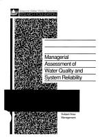 Managerial Assessment of Water Quality and System Reliability PDF