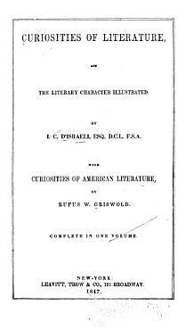 Curiosities of Literature PDF