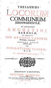 Thesaurus locorum communium iurisprudentiae